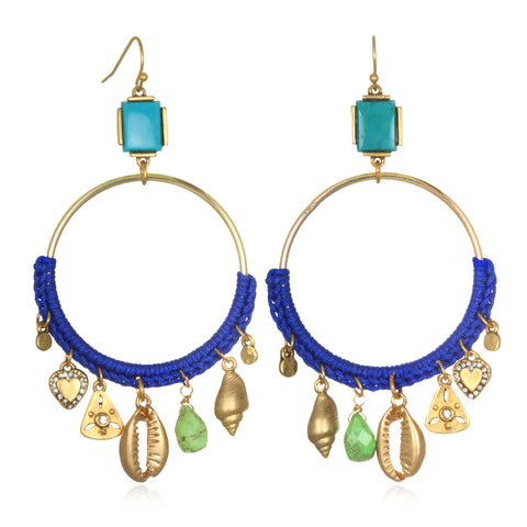 Blue Daydream Talisman Earrings