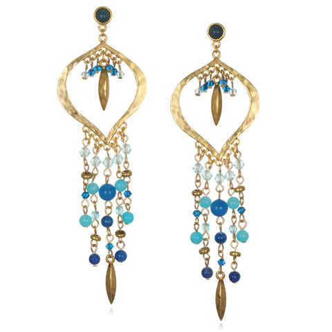 Blue Ibiza Chandelier Earrings
