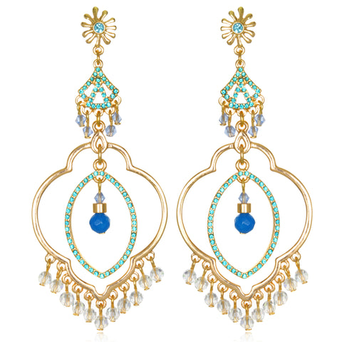 Blue Samba Chandelier Earrings