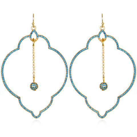 Blue Samba Drop Earrings