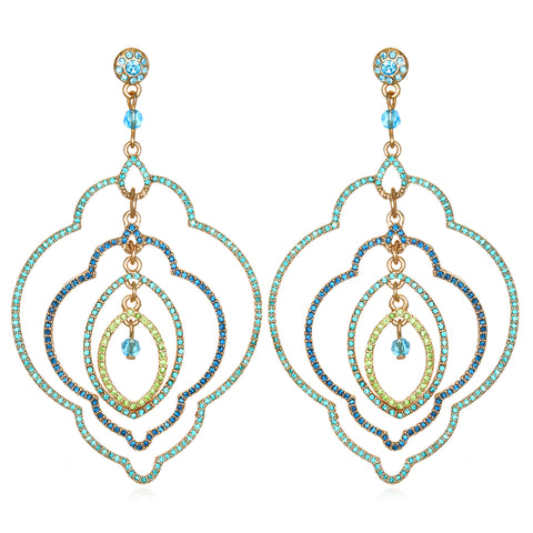 Blue Samba Multi Drop Earrings