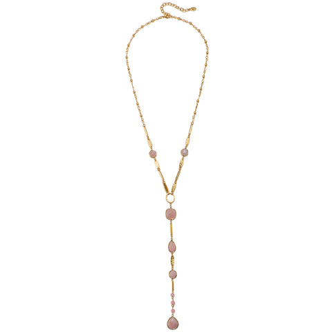 "Blush Gem ""Y"" Necklace"