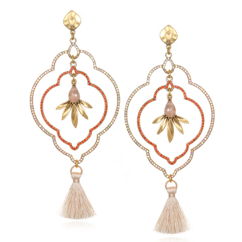 Blush Samba Tassel Earrings
