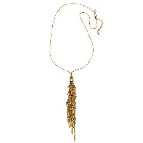 Comet Tassel Pendant Necklace