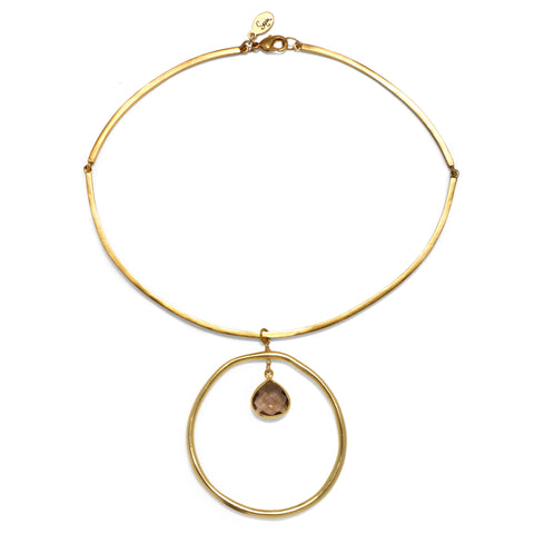 Brown Halo Choker Necklace