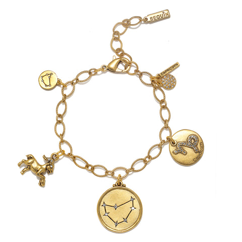 Capricorn Super Zodiac Star Maps Bracelet