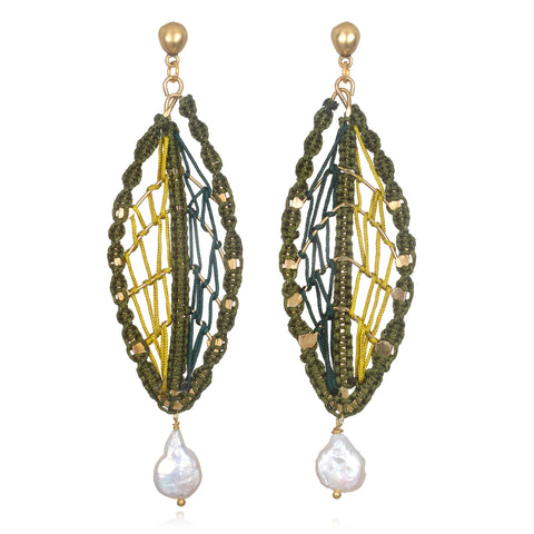 Catalina Artisan Statement Earrings