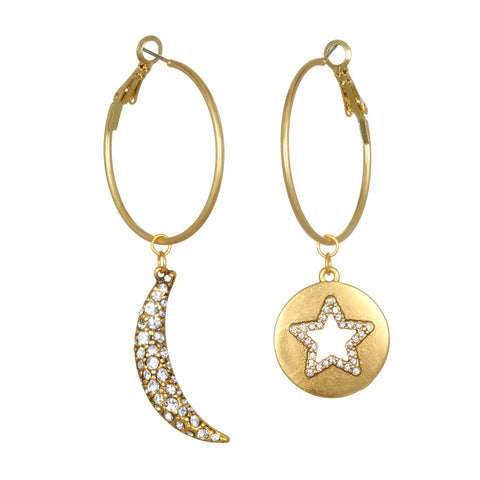 Celestial Talisman Hoop Earrings