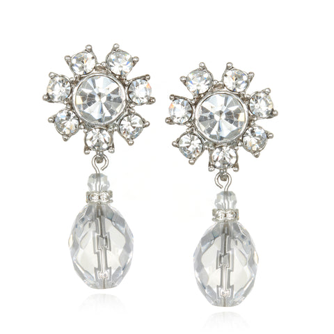 Chambord Crystal Drop Earrings