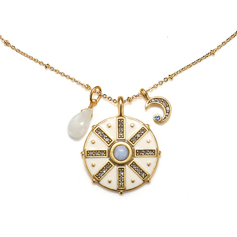 Compass 3-Charm Talisman Necklace