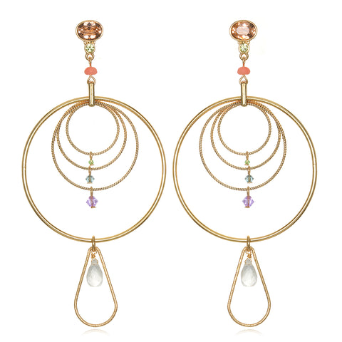 Concentric Statement Earrings