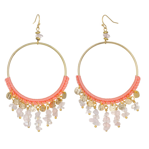 Coral Daydream Crystal Earrings