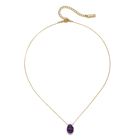 Cosmic Bliss Amethyst Crystal Short Necklace