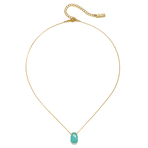 Cosmic Bliss Chalcedony Crystal Short Necklace
