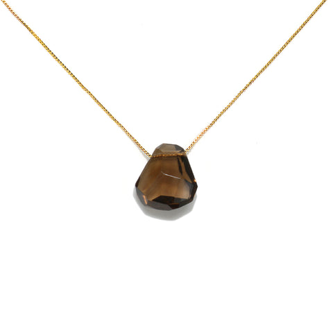 Cosmic Bliss Smoky Quartz Crystal Short Necklace