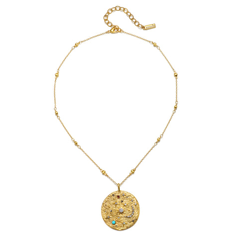 Cosmic Bliss Talisman Medallion Necklace