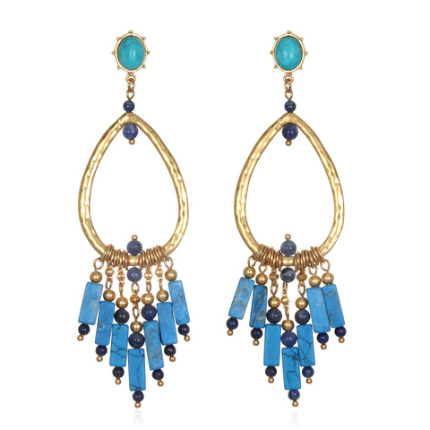Sky Fall Statement Earrings