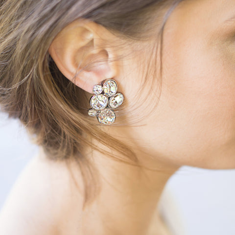 Countess Oval Cluster Earrings