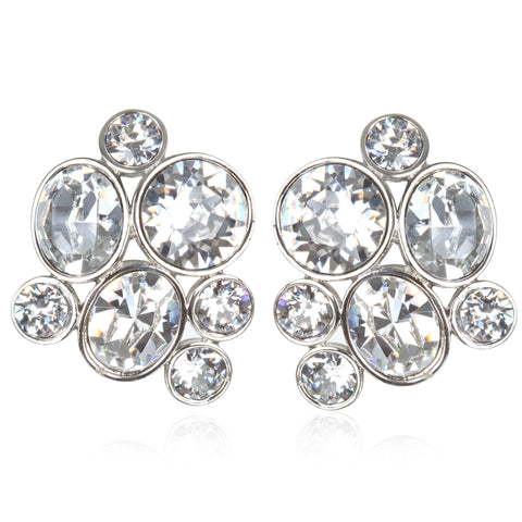 Countess Round Cluster Earrings