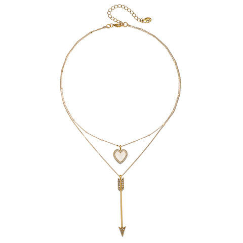 Cupid 2-Layer Talisman Necklace