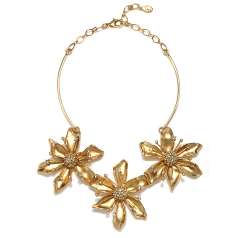 Daisy Chain Statement Choker Necklace