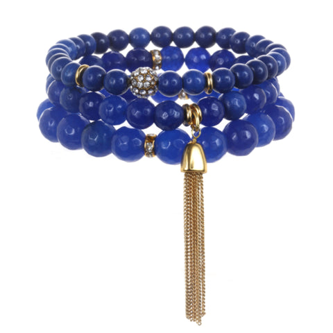 Blue Color Karma Bracelet Set