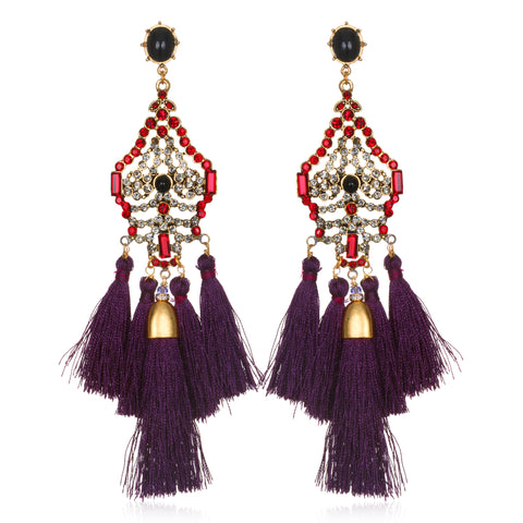 Deco Statement Tassel Earrings