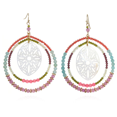 Delilah Beaded Doorknocker Earrings