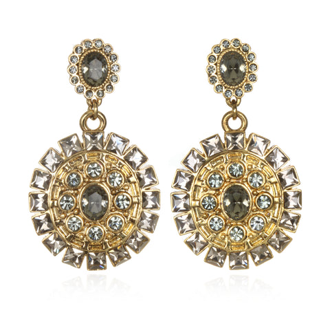 Diva Crystal Drop Earrings