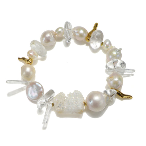 Divine Dream Pearl & Crystal Bracelet