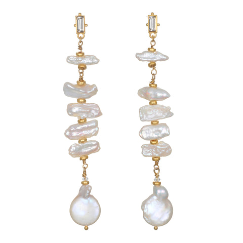 Divine Dream Pearl Drop Earrings