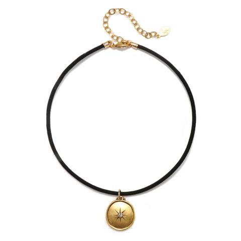 Dream Talisman Choker Necklace - Suede Cord