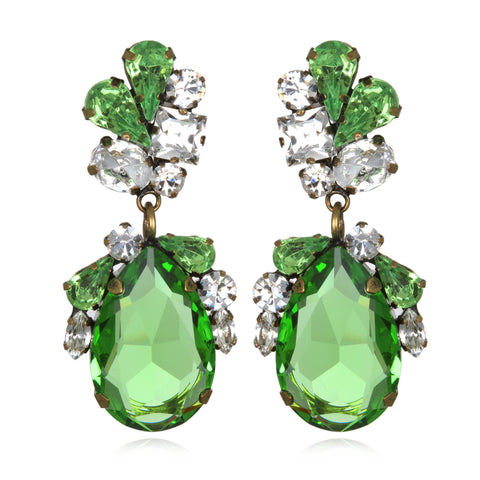 Emerald Juicy Crystal Drop Earrings