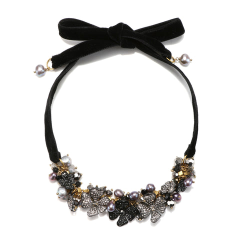 Enchanted Garden Velvet Choker Necklace