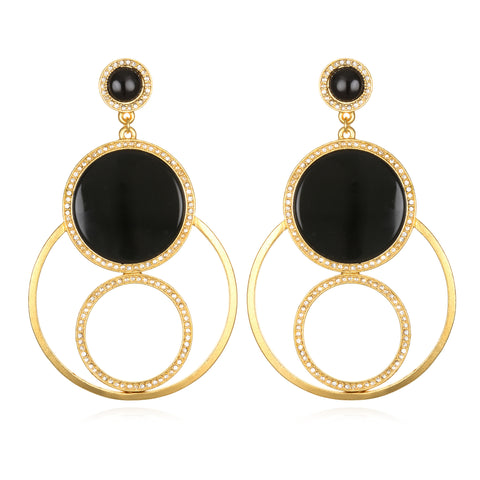 Entourage Earrings - Black Onyx