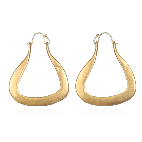 Esme Sculpted Hoop Earrings