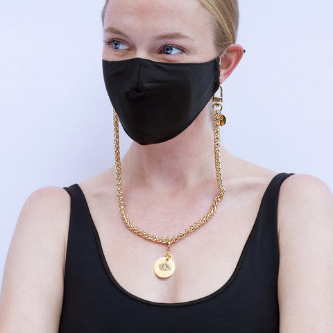 Evil Eye Charm & Mask Chain Set - Sequin X Pretty Connected