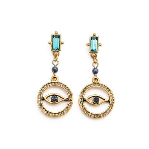 Evil Eye Charm Earrings