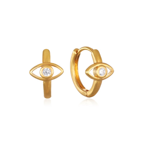 Evil Eye Huggie Hoop Earrings