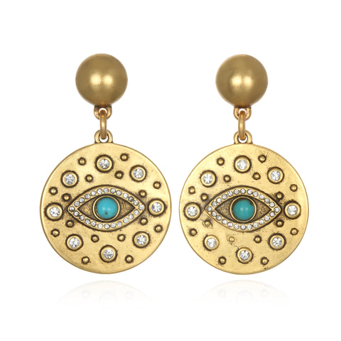 All-Seeing Evil Eye Talisman Earrings