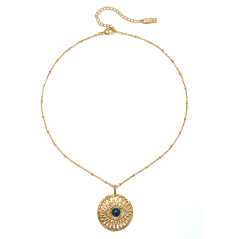 Evil Eye Talisman Medallion Necklace