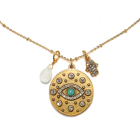 Evil Eye 3-Charm Talisman Necklace