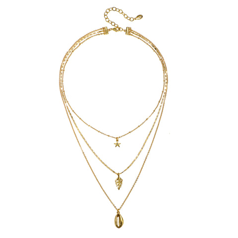 Festival Short 3-Layer Talisman Necklace