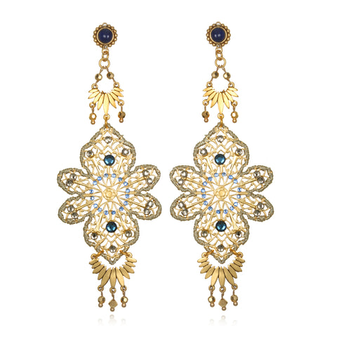 Filigree Statement Chandelier Earrings