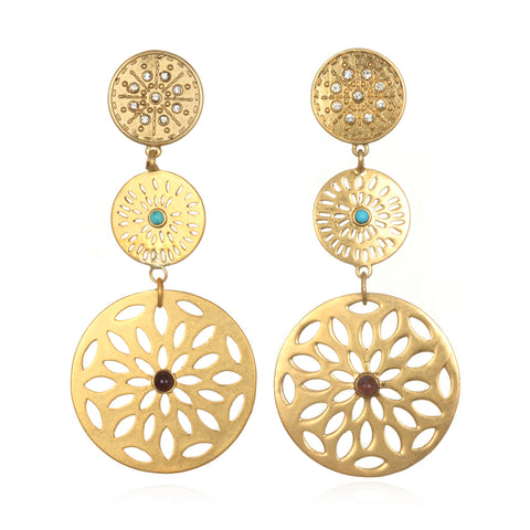 Firenze Disk Earrings