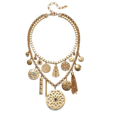 Firenze Statement Charm Necklace