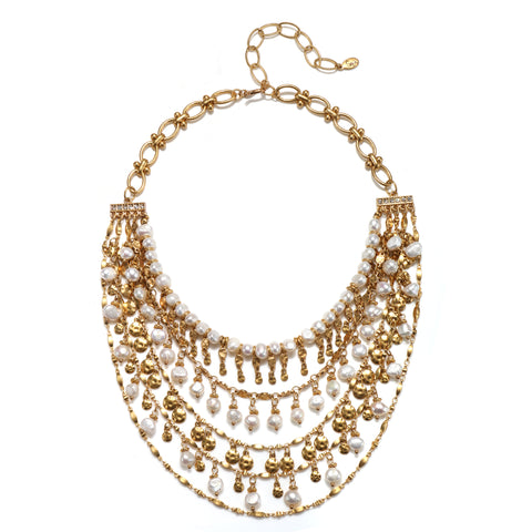 Firenze Pearl Statement Choker Necklace