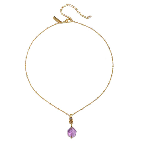 Free Spirit Amethyst Crystal Short Necklace