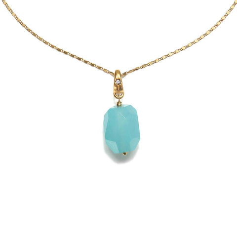Free Spirit Chalcedony Crystal Long Necklace