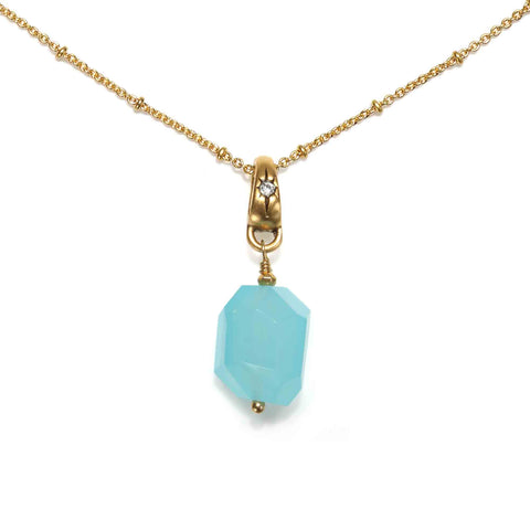 Free Spirit Chalcedony Crystal Short Necklace